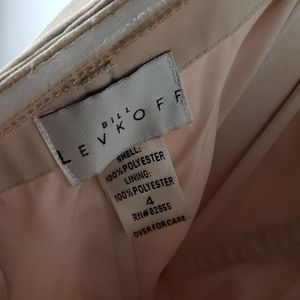 Bill Levkoff Dresses - BILL LEVKOFF Cream Chiffon Lined Strapless Dress